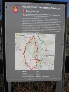 Wanderweg Bergkirche - Honsbronn - Hammelsklinge
