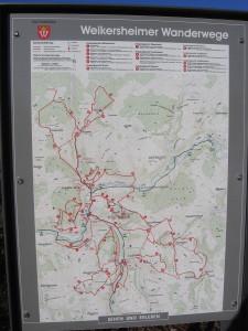 Weikersheimer Wanderwege - Übersichtskarte