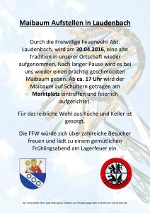 Maibaum Aufstellen in Laudenbach - Kopie-2