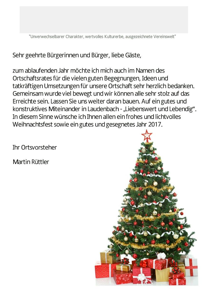 Weihnachtsgrüße Für Gäste.Weihnachtsgrüße Weinort Laudenbach