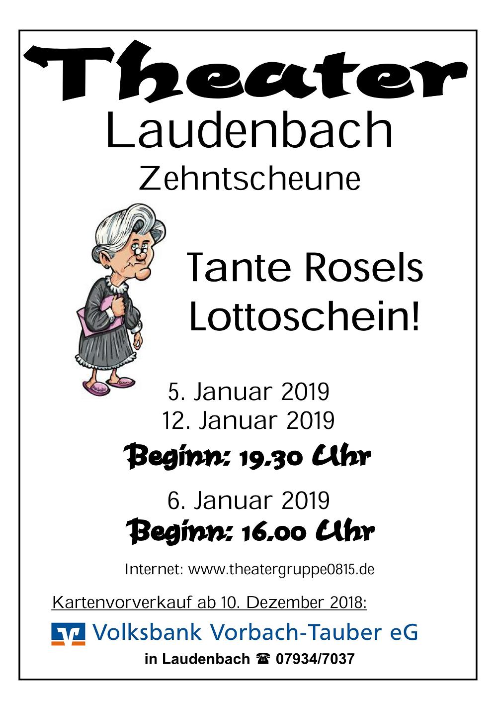 """Theatergruppe 0815 spielt Lustspiel """"Tante Rosels Lottoschein"""""""