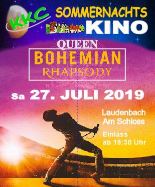 """KKC-Sommernachtskino – Queen-Open-Air mit dem Film """"Bohemian-Rhapsody"""""""
