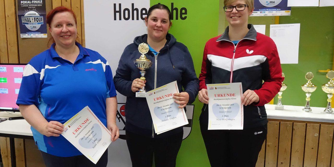 Tischtennis-Bezirksmeisterschaften in Weikersheim  – TTF-Laudenbach erfolgreichster Verein