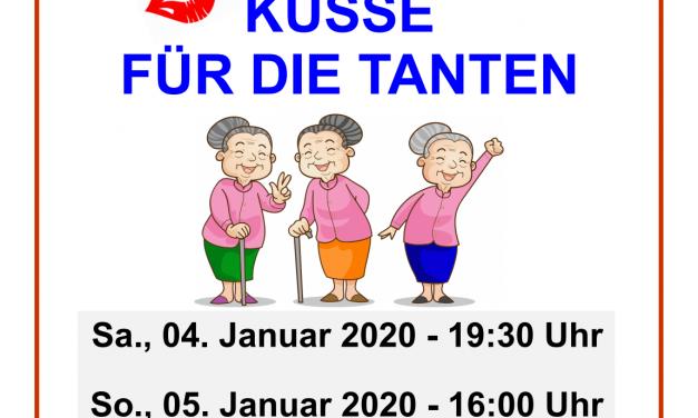 """Theatergruppe 0815 spielt Lustspiel """"Küsse für die Tanten"""" – Vorverkauf beginnt am Montag, den 9. Dezember"""