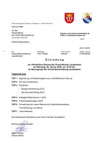 Einladung zur Ortschaftsratsitzung @ Ortschaftsverwaltung Laudenbach