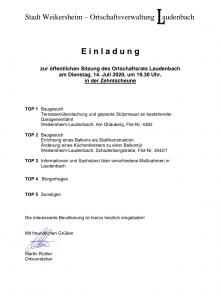 Ortschaftsratsitzung @ Zehntscheune