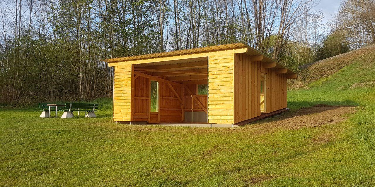Schutzhütte an der Münzklinge als Aufwertung der Naherholungselemente und weiterer Baustein der Flurneuordnung Laudenbach-Haagen
